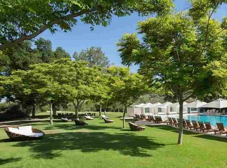 בריכה חיצונית מדשאות -ספא מלון יערות הכרמל